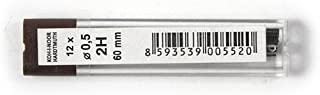 KOH-I-NOOR Fine Graphite Leads for 0.5mm Diameter 60mm 2H Mechanical Pencil