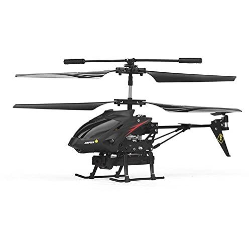 YIQIFEI Helicóptero de Control Remoto aéreo de 3.5 Canales, Techo Interior y Exterior, avión RC, 2.4G, avión RC inalámbrico, Toma de una tecla (Juguetes Inteligentes)
