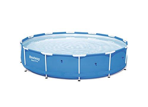 Bestway Steel Pro Frame Pool ohne Pumpe, rund 366x76cm Stahlrahmenpool, blau