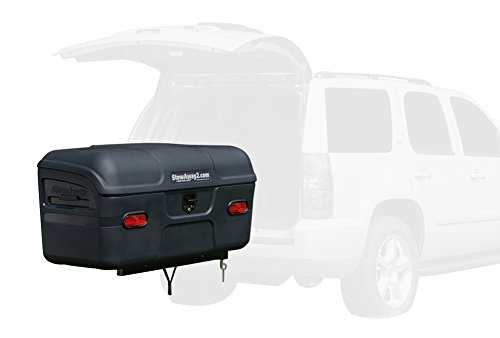 StowAway Max Hitch Cargo Box with SwingAway Frame | Black