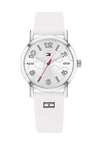 Tommy Hilfiger 32005954 - Reloj analógico de cuarzo para niña, talla única, silicona, color blanco