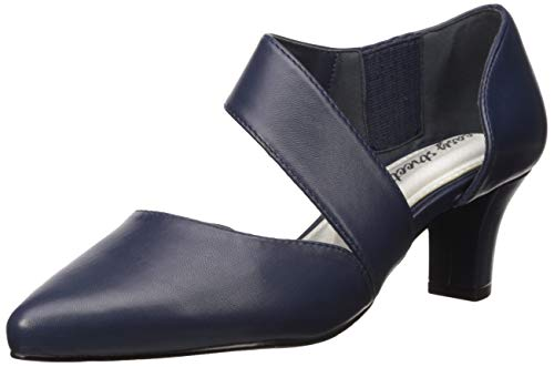 Easy Street Women's Dashing Dress Shoe Pump, Navy, 10 M US