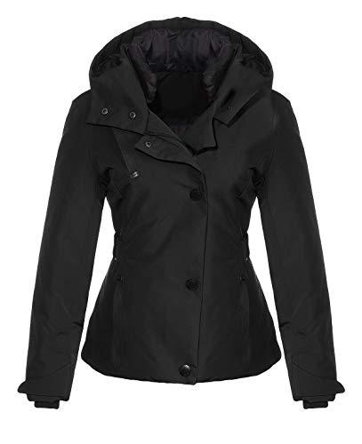 malito dames winterjas met capuchon | gevoerde korte jas |nauwsluitende jas - Stepjas JF1846