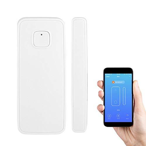 WIFI 2.4G Sensore finestra/Sensore porta intelligente, Sensore di sicurezza Wireless Sistema di allarme Supporta Controllo APP Compatibile con Alexa e Google Home per protezione furto