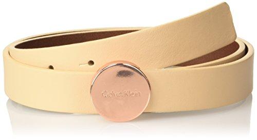Calvin Klein Dames Logo Plaque riem, Roze (Vacchetta 229), 75