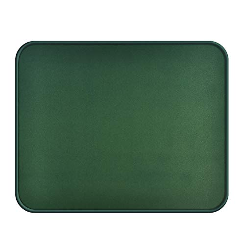 Computer Mouse Pad with Stitched Edge, Premium Textured Small Mouse Mat Green, Non Slip Black Rubber Base Gaming Mouse pad for Laptop, Home&Office, 10.2x8.3x0.12in