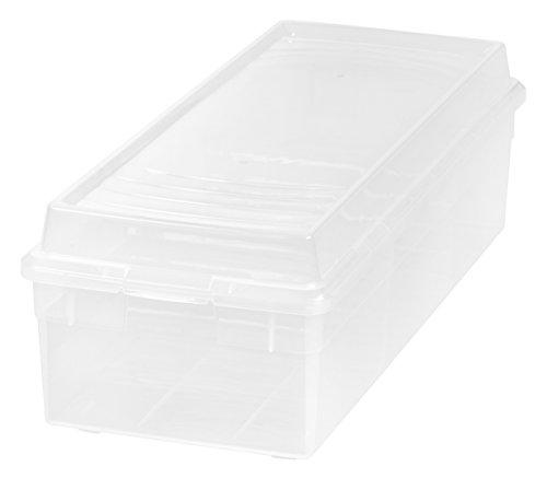 IRIS USA, Inc. MCB-BK Large Divided Modular Storage Box, Clear