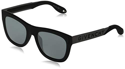 Givenchy GV 7016/N/S T4 BSC 52 Occhiali da Sole, Nero (Black Silver/Grey), Unisex-Adulto