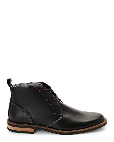 Original Penguin Mens Monty Leather Closed Toe Ankle Fashion, Black, Size 9.0