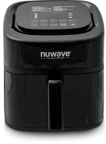 NuWave 8-Quart 6-in-1 Brio Healthy Digital Air Fryer with One-Touch Digital Controls, Integrated Digital Temperature Probe & Advanced Cooking Functions