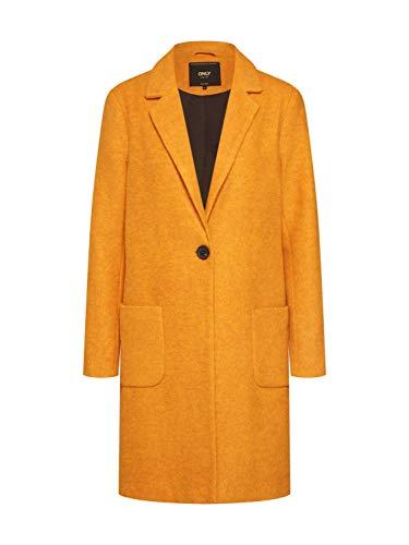 ONLY Damen Onlastrid Marie Coat OTW Mantel, Orange(Pumpkin Spicepumpkin Spice), Medium (Herstellergröße: M)