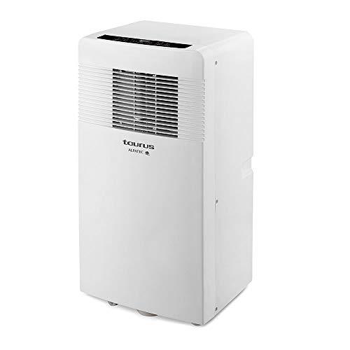 Taurus AC 3100 KVKT acondicionado 4 en 1, climatizador, ruedas, 2600 fg, 2400 kcal, aire 320 m3/h, deshumidificador 31 L/24 h, kit ventana, blanco, Con Calor