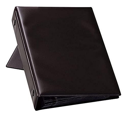 Durable 244101 - Tarjetero con 12 fundas y capacidad para 96 tarjetas de visita, color negro