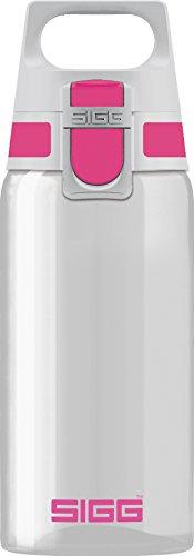 Sigg Total Clear ONE Berry, Sport Trinkflasche, Tritan, BPA frei, Rosa, 0.5 L