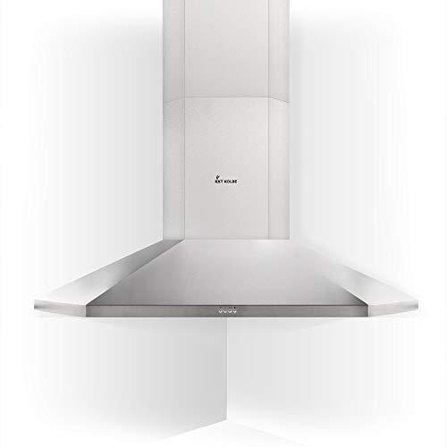 KKT KOLBE Campana extractora de pared / 90cm / acero inoxidable/extra silencioso / 671m³/h / 4 niveles/iluminación LED/EEK A / ANGOLO1005ED