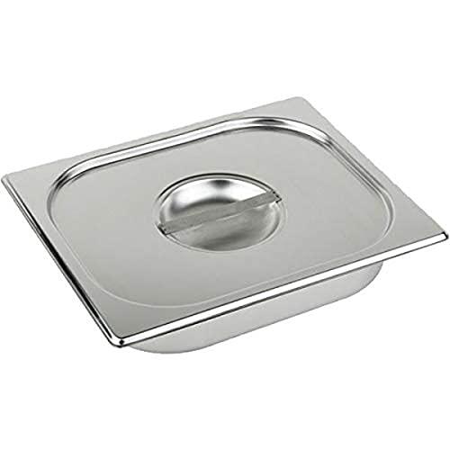 Vogue K926 Couvercle en acier inoxydable avec poignée centrale pour poêle 1/1 Gastronorm