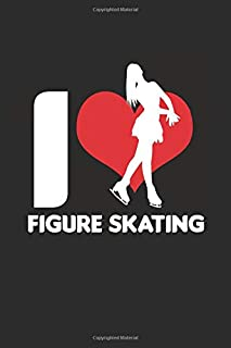 "I love Figure Skating: Cool Animated Design Figure Skating Lover Notebook Composition Book Novelty Gift (6""x9"") Dot Grid N..."