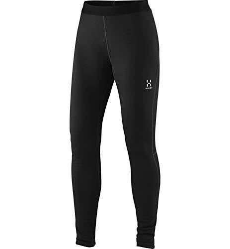 Haglöfs Funktionsunterwäsche Frauen Skiunterwäsche Bungy Tights Atmungsaktiv, Wärmend True Black S S