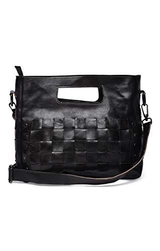 Bed|Stu Women's Orchid Leather Bag (Black Rustic)