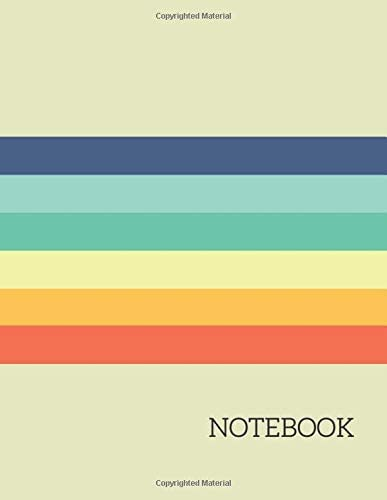 NOTEBOOK Vintage Rainbow Composition Notebook Extra Large Notebook 8 5 x 11 590 Lined Ruled product image