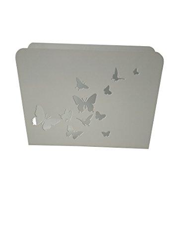King Home PORTARIVISTE Bianco Butterflies, 30x8x23 cm
