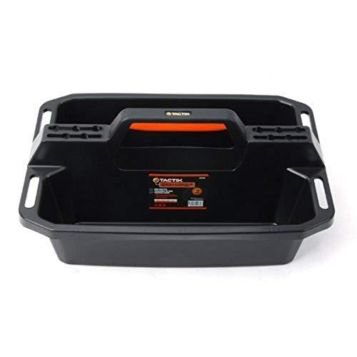 Tactix 320200 Plastic Tote & Caddy Tray,Black/Orange