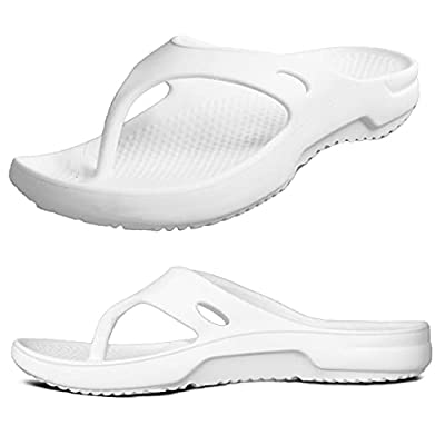 Weweya Women's Orthopedic Flip Flops Sandals with Arch Support Post Exercise Active Sport Recovery Thong Sandal Comfortable Flip Flops