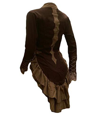 Aooword-women clothes Camisa medieval-vestuario de encaje encaje capa capa Para Mujeres