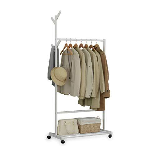Cintres porte-manteaux Porte-manteau solide plancher en bois cintre arbre forme minimaliste pendaison accrochant le support de vêtements -/ (Couleur : Blanc)