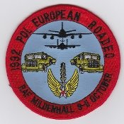 PATCH,TOPPA RICAMATA TERMOADESIVA ,,USAF Patch Air Refueling USAFE 100 ARW RAF Mildenhall POL 1992 ,, 101 mm ,,