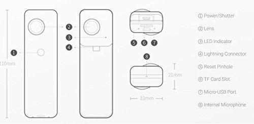 Insta360Nano Compact Mini Panoramic 3K HD Video 210Degree Dual - 7