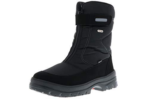 Vista Herren Snowboots Winterstiefel EISKRALLEN schwarz, Größe:45;Farbe:Schwarz