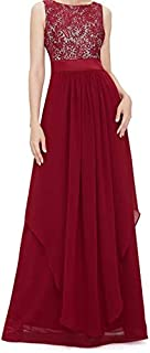 Summer Elegant Long Cocktail Dress Red wine Lace material Long skirt
