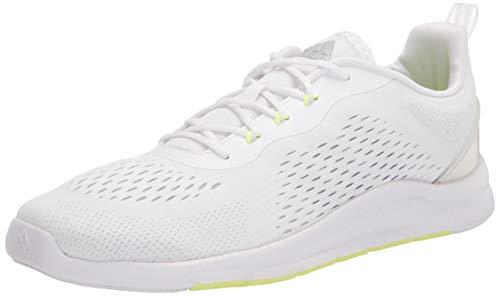 adidas Women's Novamotion Running Shoe, White/Halo Silver/Dark Grey, 11
