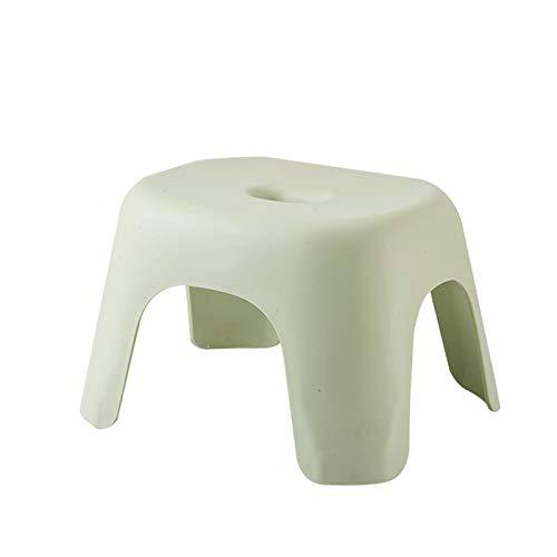 Huachaoxiang - Taburete para inodoro para adultos y niños pequeños, antideslizante, para embarazadas, personas mayores, discapacitadas, gran capacidad de carga, verde, S