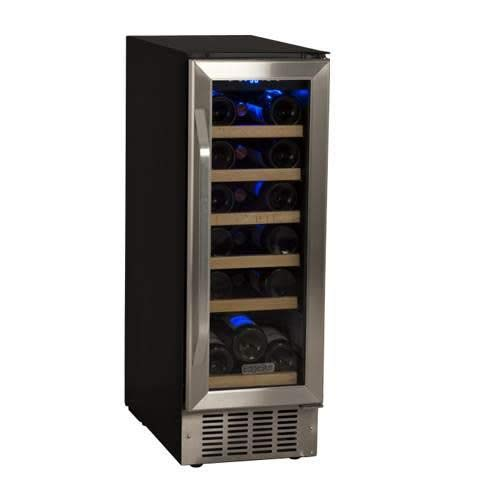 EdgeStar 18 Bottle Built-In Wine Cooler - Black/Stainless Steel