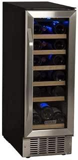 EdgeStar 18 Bottle Built-In Wine Cooler - Black/Stainless Steel