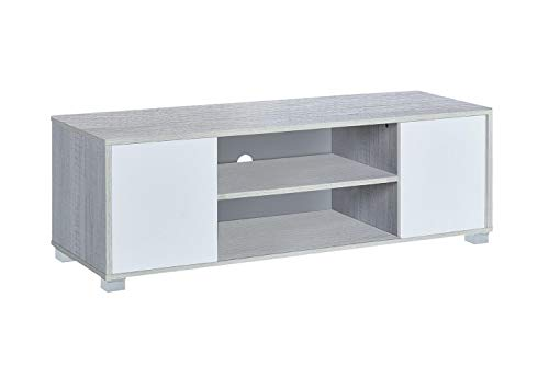 MyosHome - Mueble TV Salon Mesa para TV Color Roble Polar y Blanco 120 x 40 x 41 cm Hera