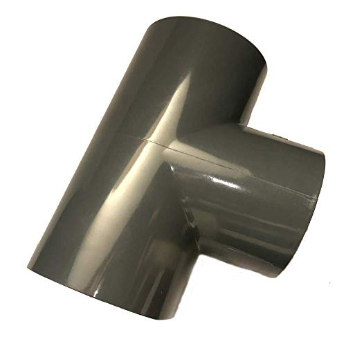 Adrenalin-Fishing PVC-U T-Stück 63mm 90 Grad mit Klebemuffen PN 10 nach DIN 8063 Formteil Fitting zum kleben