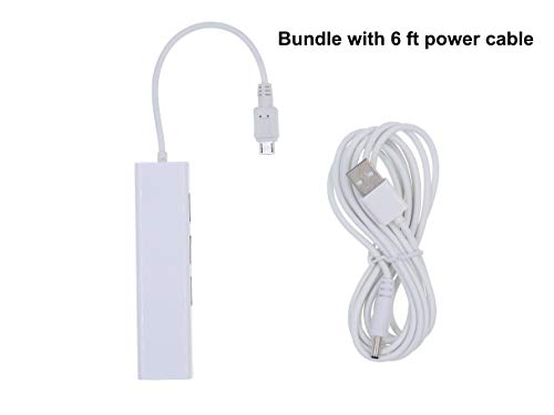 DigitCont 2. Generation Micro USB LAN Ethernet RJ45 Adapter mit 3 USB-Ports, kompatibel mit Fire Stick, Roku Streaming Stick und Chrome Stick, gebündelt mit 1,8 m Netzkabel
