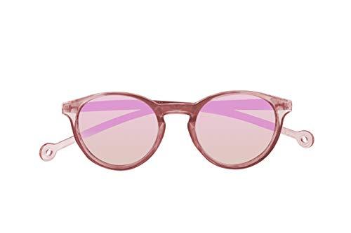 Parafina - Gafas de Sol Polarizadas para Hombre y Mujer - Gafas de Sol Redondas Anti-reflejantes Rosas con Efecto Espejo - Lentes Rosas