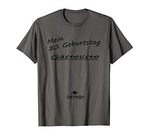 Geburtstag Gästeliste Party Feier Erinnerung Geschenk Freund T-Shirt