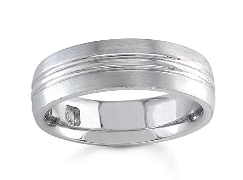 At the price of surprise Men's double groove grain wedding wide Platinum band 7mm Animer and price revision