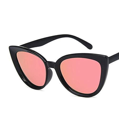 chuanglanja Gafas De Sol Mujer Gafas De Sol Mujer Azul Espejo Gafas De Sol Retro Tonos Negros Para Mujer Protección UV400-02