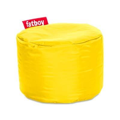 Fatboy® Point gelb Nylon-Hocker | Runder Sitzhocker | Trendiger Poef/Fußbank/Beistelltisch | 35 x ø 50 cm