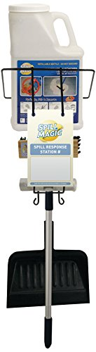 Spill Magic SM1SRSKIT Spill Response Station Kit with Filled Absorbent Powder Bottle