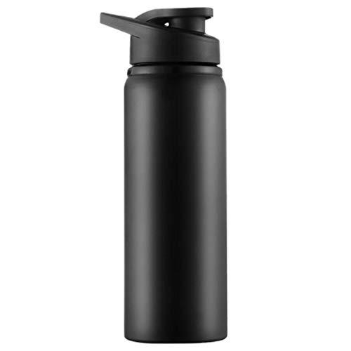 dkjawjcn Botellas de Aleación de Aluminio 750 ml Portátil, para Ciclismo Camping de Viaje de Deportes al Aire Libre