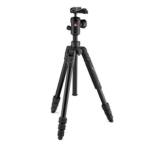 Manfrotto Befree Nerissimo Alu Reisestativ Twist mit Kugelkopf inkl. Tasche in matt-schwarz (für Canon, Nikon, Sony, Fuji, DSLR, CSC, Spiegellose Kamera,Traglast: 8kg, Packmaß: 40cm, Gewicht: 1,49kg)