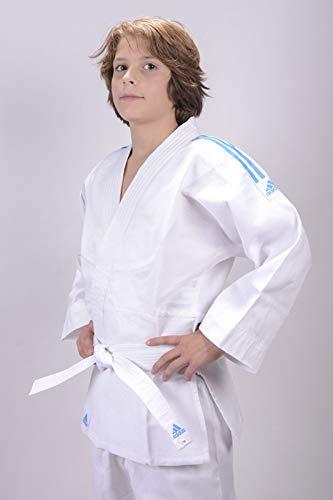 Adidas Tuta Judo Evolution bambini (incl. Cintura), Bianco, 110/120 cm