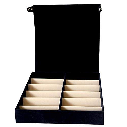 MHBY Caja de Almacenamiento para Gafas de Sol, 12 Rejilla Gafas de Sol Gafas Organizador de Joyas Soporte para Soporte Ordenado con Tapa Caja de exhibición Caja de Almacenamiento Colector